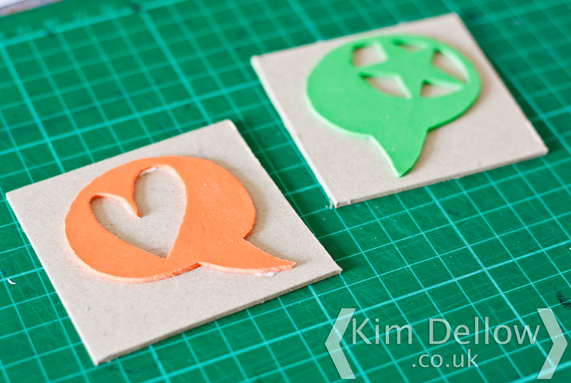 DIY Stamps made using the Cricut Explore