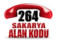 0264 Sakarya telefon alan kodu