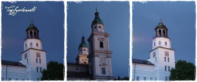 Salzburger Türme im Abendlicht