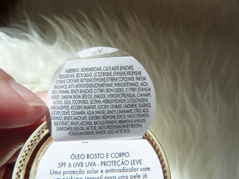 Sublime Tan Huile Visage&Corps olejek do twarzy i ciała SPF6 od EISENBERG Paris inci ingredients