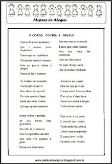 Avaliação de português sobre dengue