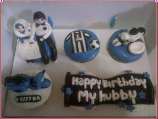 Kue Ulang Tahun Juventus Cupcake