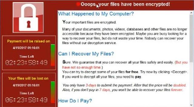 infeksi Ransomware WannaCry
