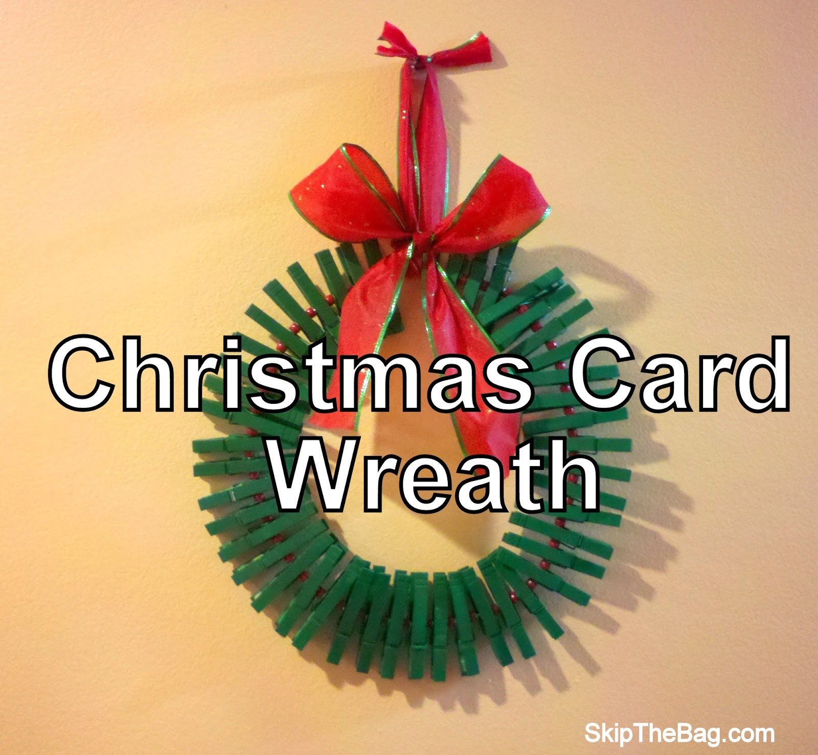 Easy DIY Christmas Card Wreath