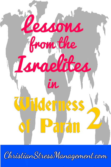 Lessons from the Israelites in the Wilderness of Paran 2