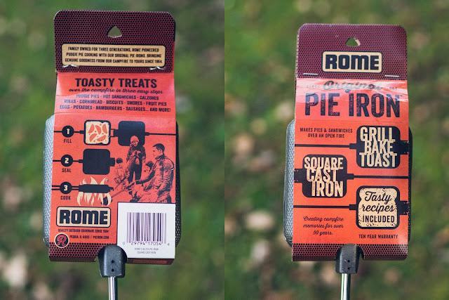 ROME Pie Iron – Sandwicheisen  Sandwiches am Lagerfeuer  Waffeleisen aus Gusseisen 02