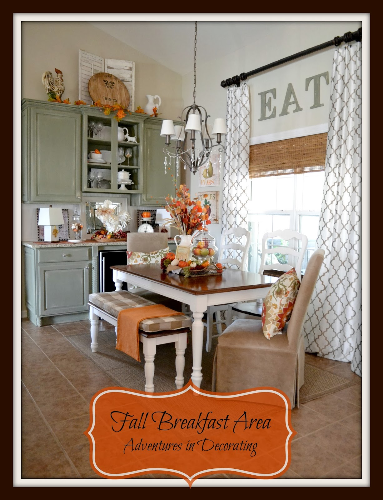 Adventures In Decorating Our Fall Kitchen: Adventures In Decorating: Fall In The Breakfast Area