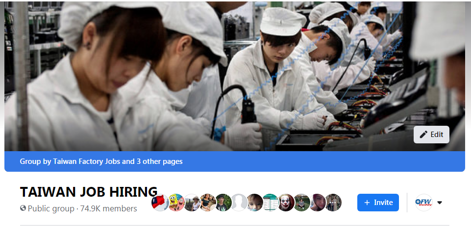 Join now in our TAIWAN Online Facebook Community