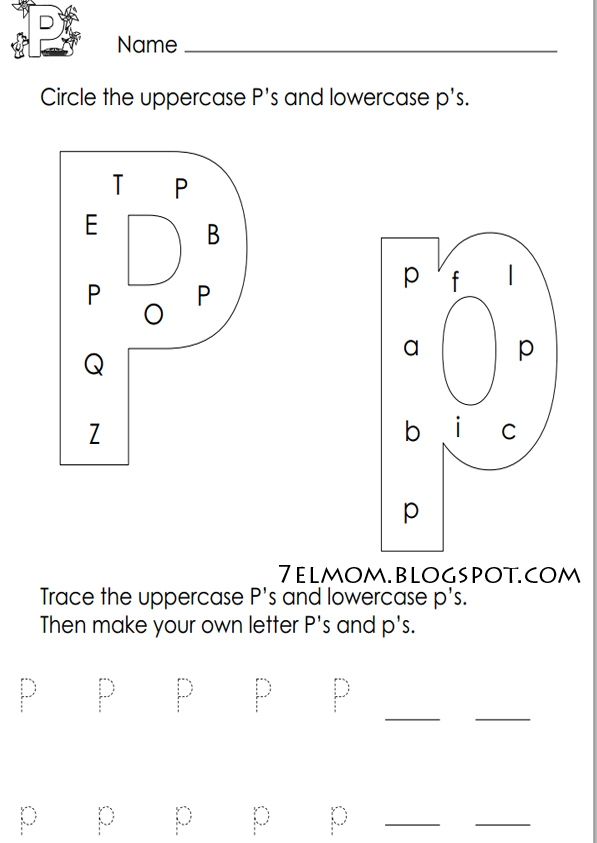 letter p alphabet worksheets. Black Bedroom Furniture Sets. Home Design Ideas