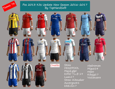 Pes 2013 Kits Update New Season 2016-2017 By TopHardSoft