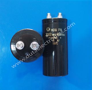 Jual Capacitor 2200 MFD 400VDC Terlengkap Murah Original