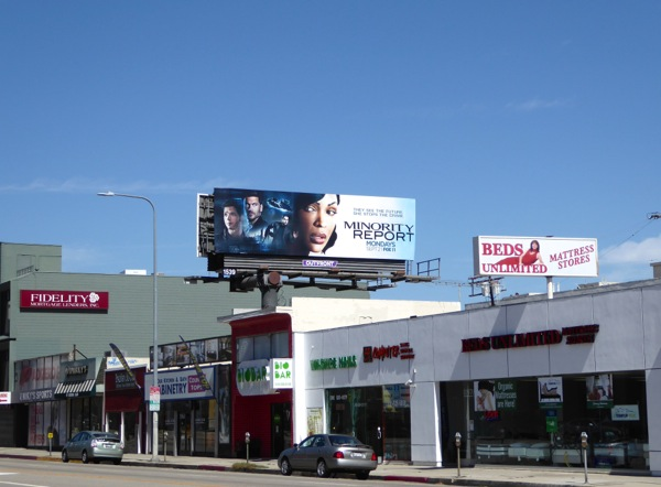 Minority Report TV billboard
