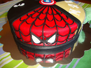 tarta superheroe spiderman