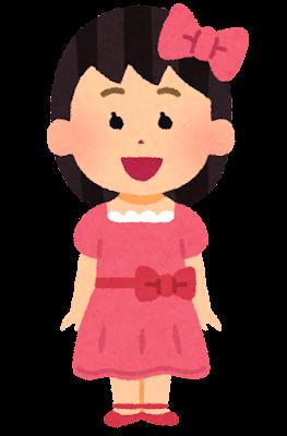 ドレスを着た女の子のイラスト
