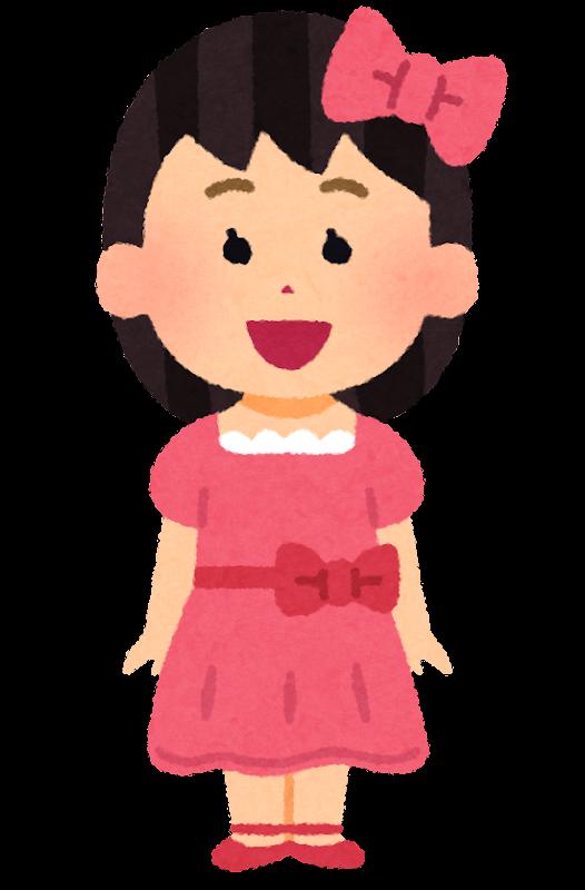 ドレスを着た女の子のイラスト かわいいフリー素材集 いらすとや