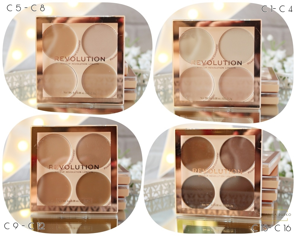 Makeup Revolution Matte Base Concealer Kit - paleta korektorów.