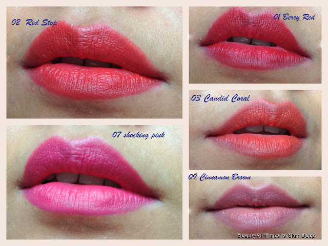 Lakme Enrich Crayons: Swatches and Review