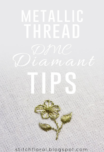 Metallic thread tips: DMC Diamant
