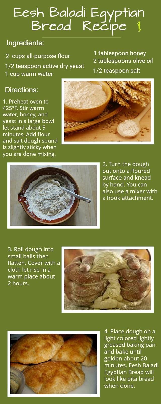 Simple Eesh Baladi Egyptian Bread Recipe Directions