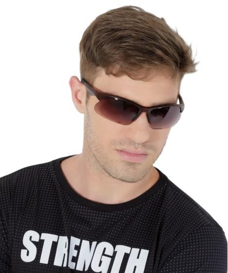 óculos retangular oneself marrom