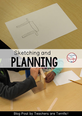 STEM Challenges! Even first and second graders will sketch an idea and then carry out their plan! Check this blog post for more!