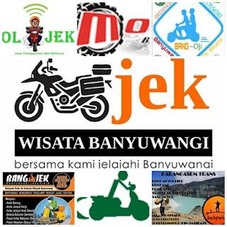 Ojek motor online di Banyuwangi.