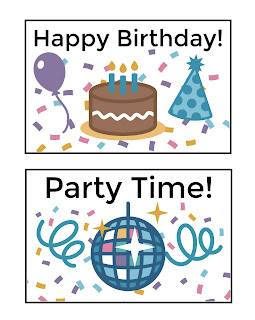 American Doll free birthday party printables