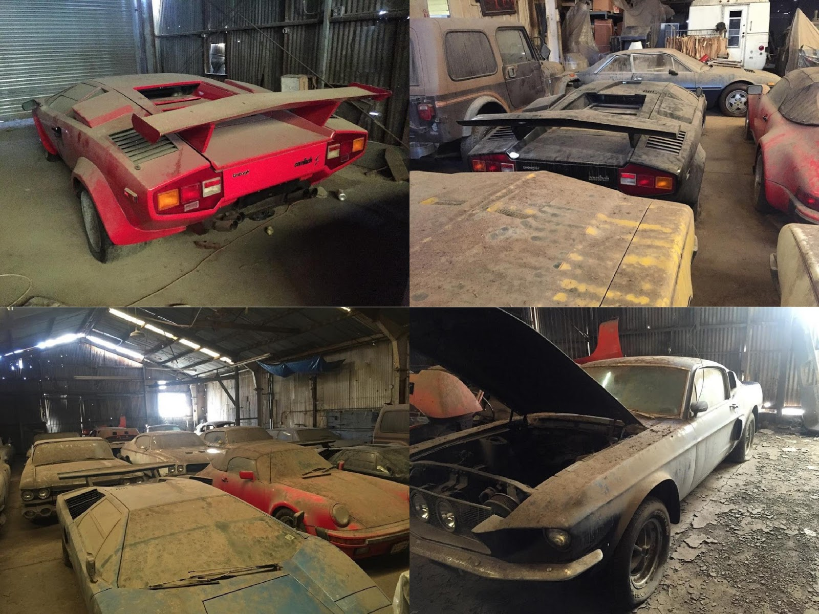 insane barn find includes lambo countach 39 s porsche 911 speedster with just 41 miles. Black Bedroom Furniture Sets. Home Design Ideas