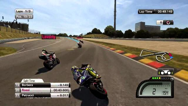 MotoGP 14 PC Games Gameplay