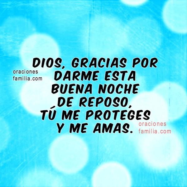 Frases con oraciones de la noche, buenas noches con oración cristiana por Mery Bracho