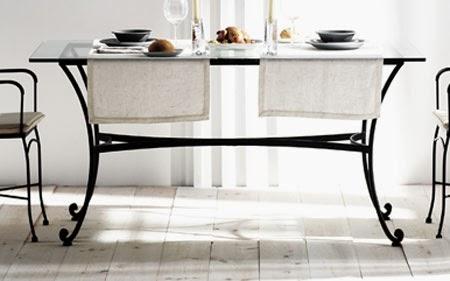 mesa rustica rectangular, mesa de forja