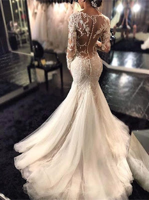 http://www.27dress.com/p/glamorous-long-sleeve-mermaid-lace-wedding-dress-tulle-button-back-104205.html