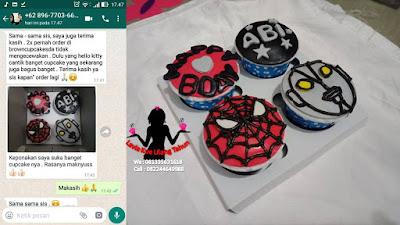 Cupcake Wajah Spiderman Murah Meriah