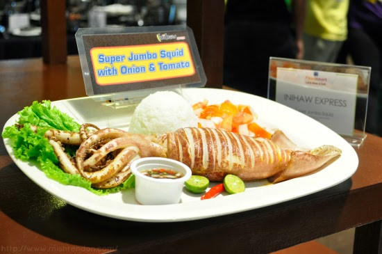Super Jumbo Squid from Inihaw Express SM Fairview Foodcourt