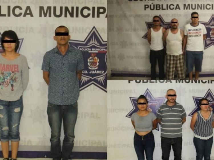 """Detienen a 8 sujetos integrantes de """"Los Aztecas"""" autores de la ejecución de 11 personas en Ciudad Juárez."""