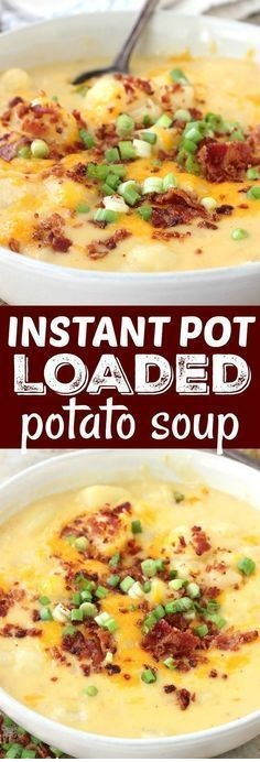 Instant Pot Loaded Potato Soup (With A Slow Cooker Version)