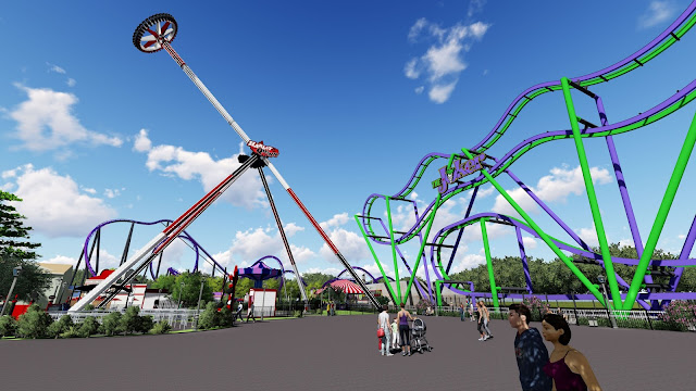 six flags new england harley quinn spinsanity new ride 2018