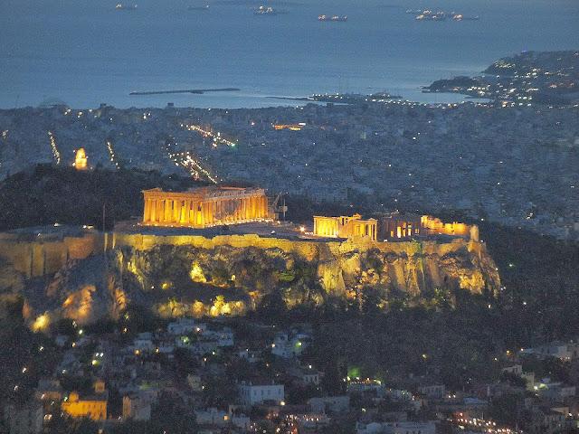 atardecer en Atenas