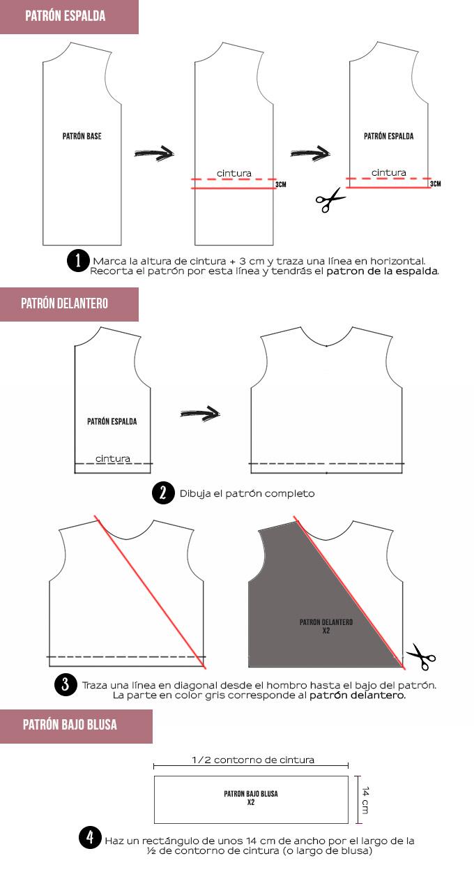 miscelánea diy: DIY | Blusa cruzada manga larga y escote en pico