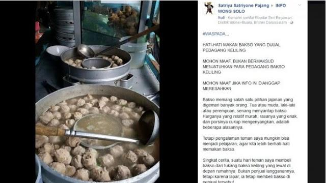 Hati-hati Makan Bakso Pedagang Keliling