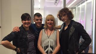 Non Pratt, me, Siobhan Curham and Juno Dawson.