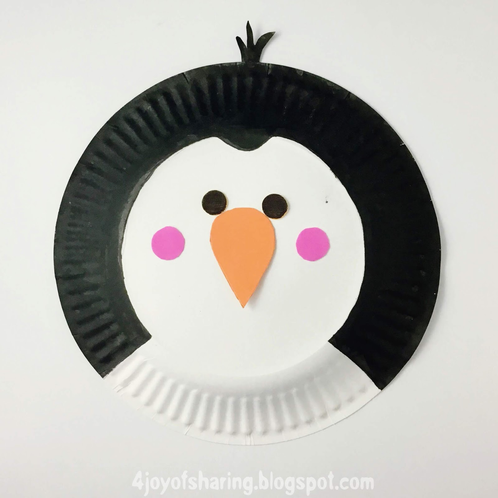 Paper Plate Penguin Craft The Joy Of Sharing