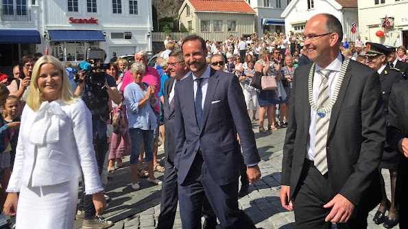 The Crown Prince couple celebrated in Grimstad