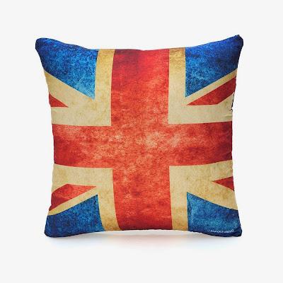 Almofada bandeira vintage Reino Unido