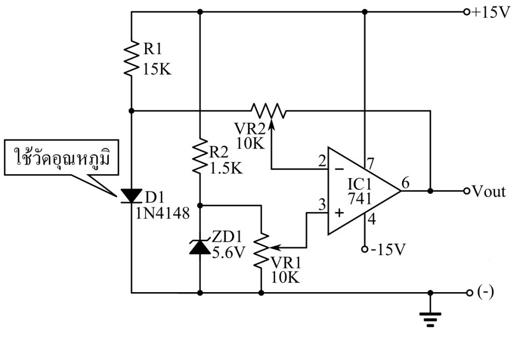 temperature sensor circuit using 1n4148 diode