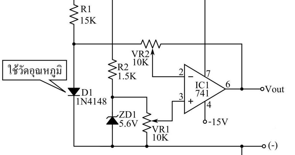 temperature sensor circuit using 1n4148 diode