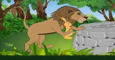 शेर और खरगोश - पंचतंत्र से
