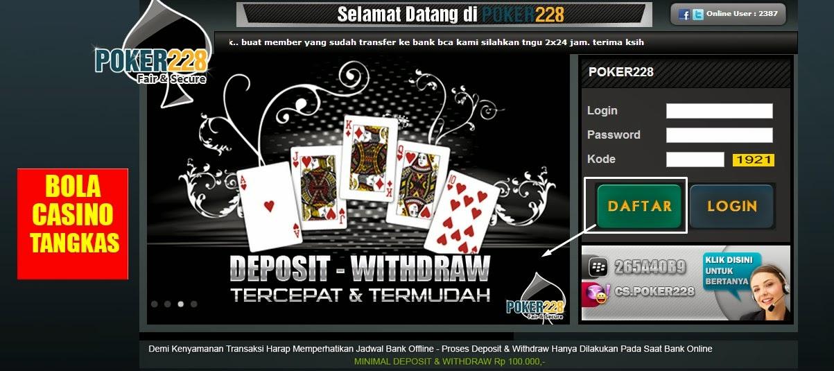 Cara Daftar Poker 228