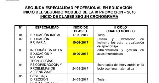 Segunda Especialidad Profesional En Educación Fe Unfv