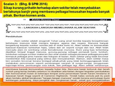 Alhamdulillah artikel 16 Dlm Buku Kru 6 Dengan Soalan 3 Bm 1 Spm 2016
